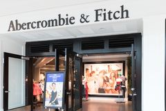 Abercrombie & Fitch Clothing Store in Philadelphia I stock afbeelding