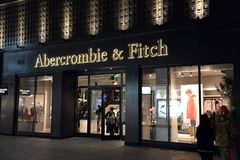 Free Abercrombie & Fitch In Beijing, China At Night Stock Images - 107204514