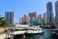 Aberdeen är ett fiskeläge i Hong Kong Arkivbild