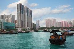 Aberdeen ö i Hong Kong Arkivfoto