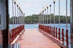 Aberdeen brygga, Port Blair, Andaman ö Fotografering för Bildbyråer