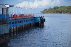 Aberdeen brygga, Port Blair, Andaman ö Royaltyfria Foton