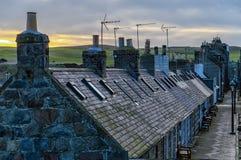 Aberdeen chałupy Fotografia Royalty Free