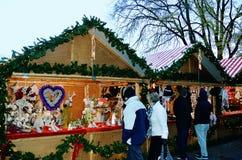 Aberdeen Christmas Village Stock Photo