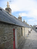 Aberdeen cottages. Scottish street scene Aberdeen cottages, Scotland Stock Photo