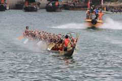 Aberdeen dragon boat race Royalty Free Stock Images