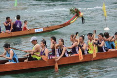 Aberdeen dragon boat race Royalty Free Stock Image
