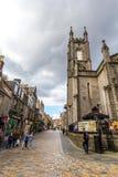 Aberdeen en stad i Skottland i Storbritannien, 13/08/2017 Arkivfoto