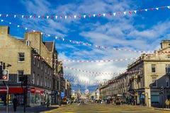 Aberdeen en stad i Skottland i Storbritannien, 13/08/2017 Royaltyfri Fotografi