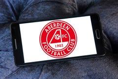 Aberdeen F C Het embleem van de voetbalclub Stock Afbeelding
