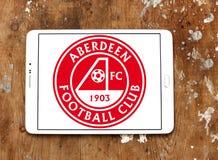 Aberdeen F C Het embleem van de voetbalclub Stock Foto