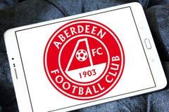 Aberdeen F C Het embleem van de voetbalclub vector illustratie