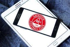 Aberdeen F C Logotipo del club del fútbol Stock de ilustración