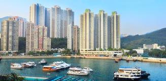 Aberdeen fjärd, Hong Kong Fotografering för Bildbyråer