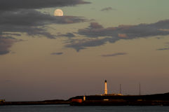 Aberdeen Full Moon. Aberdeen has been characterised as cold, gray and colourless. Well, that cannot be completely true royalty free stock photos