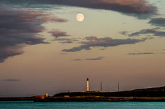 Aberdeen Full Moon. Aberdeen has been characterised as cold, gray and colourless. Well, that cannot be completely true stock photography