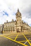 Aberdeen granitstad, radhus i den fackliga gatan, Skottland, 13/08/2017 Arkivfoton