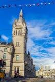 Aberdeen granitstad, radhus i den fackliga gatan, Skottland, UK, 13/08/2017 Royaltyfria Foton