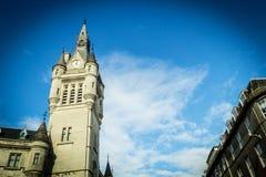 Aberdeen granitstad, radhus i den fackliga gatan, Skottland, UK, 13/08/2017 Arkivbild