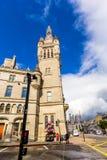 Aberdeen granitstad, radhus i den fackliga gatan, Skottland, UK, 13/08/2017 Royaltyfri Foto