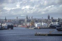 Aberdeen-Hafen Foto in der Retro Art stockbild
