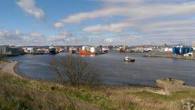 Aberdeen hamn Arkivbilder