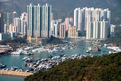 aberdeen hamn Hong Kong Arkivbild
