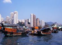 Aberdeen hamn, Hong Kong Fotografering för Bildbyråer