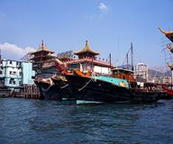 Aberdeen Harbour, Hong Kong. Royalty Free Stock Images