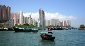 Aberdeen, Hong Kong, China. Sampan at Aberdeen, Hong Kong, China Royalty Free Stock Image