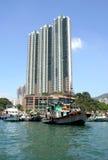 Aberdeen, Hong Kong, China. Hong Kong, China, traditional and modern style of living Royalty Free Stock Image