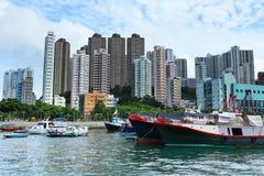 aberdeen Hong Kong skyddtyphoon Arkivfoton