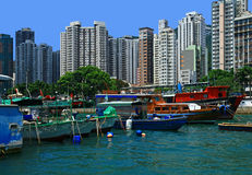 Aberdeen, Hong Kong. Royalty Free Stock Photo