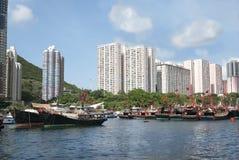 Aberdeen in Hongkong Stock Afbeelding