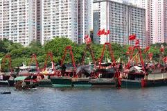 Aberdeen i Hong Kong Arkivbild