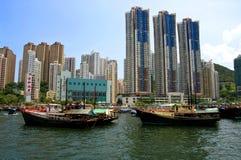 Aberdeen, isla de Hong-Kong Imagen de archivo libre de regalías