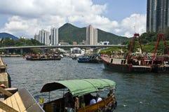 Aberdeen, isola di Hong Kong Fotografia Stock Libera da Diritti
