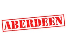 ABERDEEN Rubber Stamp Royalty Free Stock Image