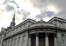 Aberdeen, Scotland: Granite buildings under stormy sky Stock Images