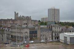 Aberdeen -Scotland- harbour, main gateway for the North Sea oil and gas offshore industry. Aberdeen is Scotland`s third most populous city, with an official Royalty Free Stock Photography