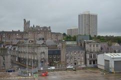 Aberdeen - Skottland hamn, huvudsaklig nyckel för den frånlands- branschen för Nordsjönfossila bränslen Royaltyfri Fotografi
