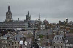 Aberdeen - Skottland hamn, huvudsaklig nyckel för den frånlands- branschen för Nordsjönfossila bränslen Royaltyfria Bilder