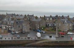 Aberdeen - Skottland hamn, huvudsaklig nyckel för den frånlands- branschen för Nordsjönfossila bränslen Royaltyfria Foton