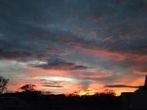 Aberdeen solnedgång Arkivfoton