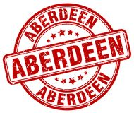 Aberdeen stamp. Aberdeen round grunge stamp isolated on white background. Aberdeen vector illustration