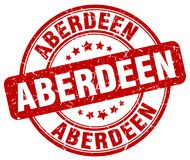Aberdeen stamp. Aberdeen round grunge stamp isolated on white background. Aberdeen royalty free illustration