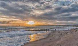 Aberdeen strand Arkivfoto