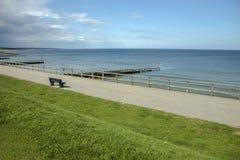 Aberdeen strand, Skottland, UK royaltyfri foto