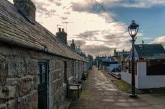 Aberdeen stugor Arkivbild