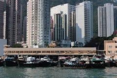 Aberdeen tyfonskydd Hong Kong Arkivfoto